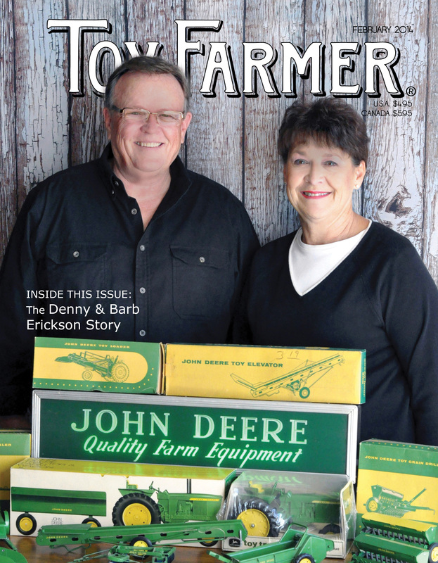 February 2014, Toy Farmer, Toy Farmer magazine, Red Wagon Antiques, Denny Erickson, George Erbe, Darvin Mitchell