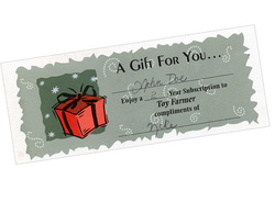 Gift Certificates, Toy Farmer gift certificate, gift