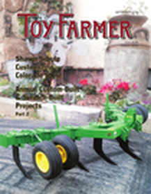 Toy Farmer, toy tractors, custom-built, farm scene