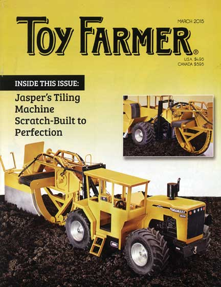Jasper; Tiling Machine; Scratch-Built; Pastor; Yoder's Amish; Vindex; Insure; Stolen models; March TF; Toy Farmer; subscribe; Perfection