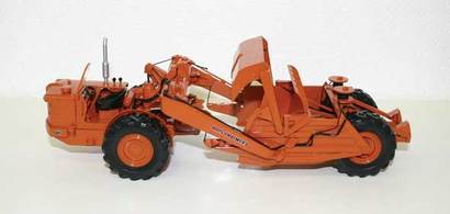 Die-cast Construction, Toy Trucker, toy model, construction model, Bantam crane, Allis Chalmers scraper, Allis Chalmers grader